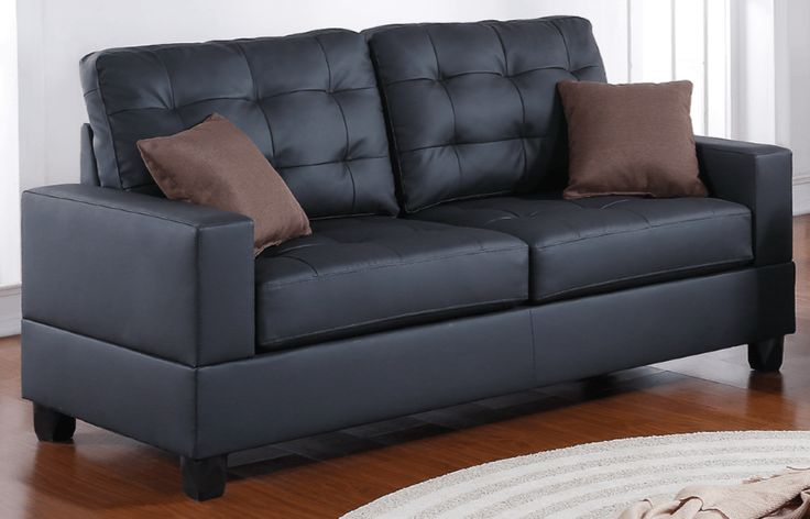 Broadstone Family Sofa in Black - Chaise Sofas Perth