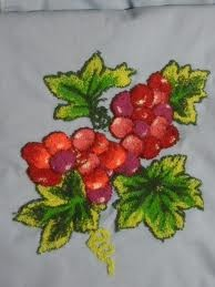 uvas en bordado chino