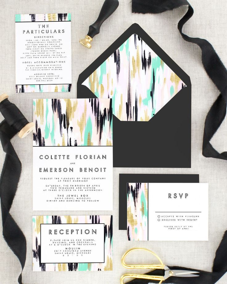 sample invitation letter to attend an event%0A We can u    t stop swooning over this modern invitation suite    Modern Wedding  Invitation