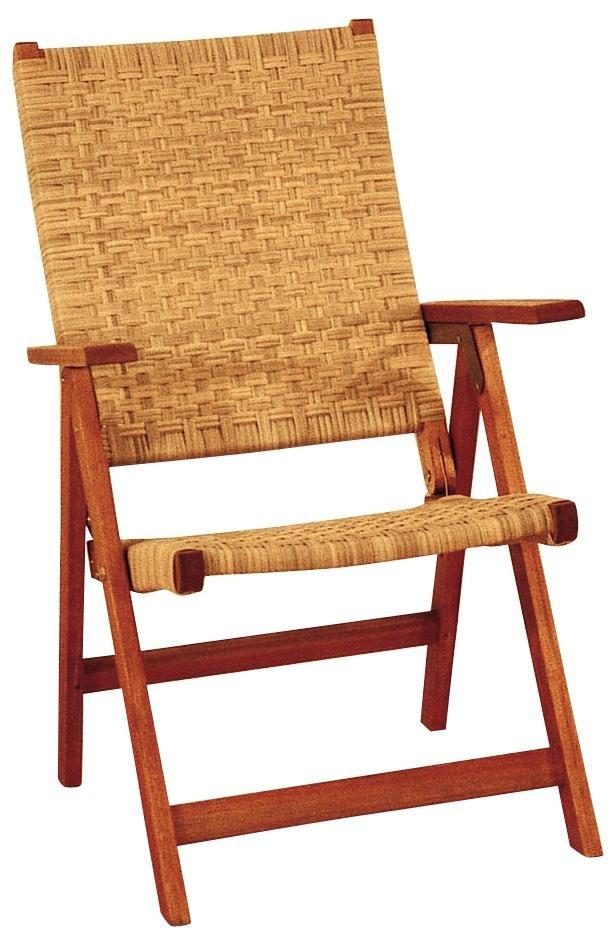 Eucalyptus Woven Seat Outdoor Folding Chair -