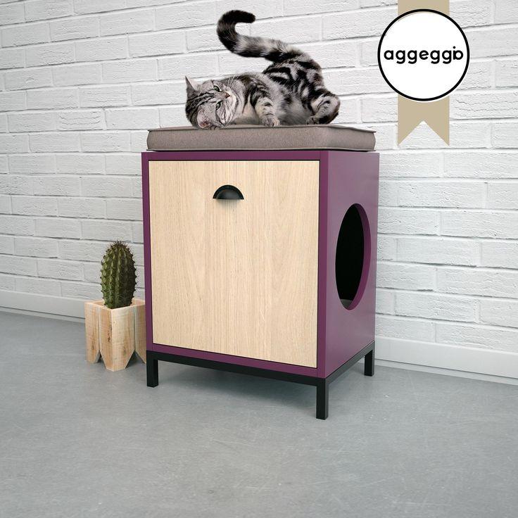 FLORA2, mueble portalitera. Para esconder la bandeja de las piedras sanitarias de tu gato.
