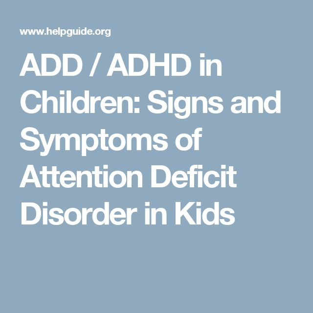 an introduction to the attention deficit disorder add in children There are very few people in the united states who have not heard about attention deficit hyperactivity disorder (adhd) sometimes it is called attention deficit disorder (add.