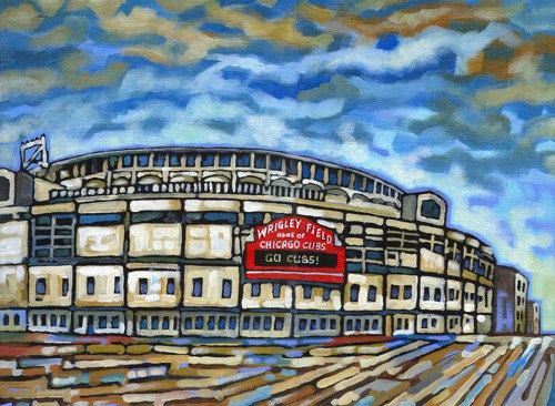 Wrigley Field / Chicago Cubs 5x7 Art Print by by AnastasiaMak, $9.00