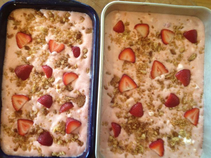 Frosty Strawberry Squares: 1cflour, 1/4c.Bsugar, 1/2cChopWalnuts, 1 ...