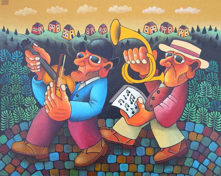 Guido Vedovato, The Band, 2008, Oil on canvas, 40X48cm