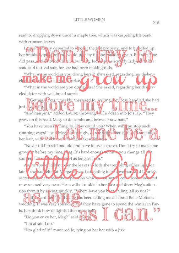 Quote from Little Women by Louisa May Alcott by ElizabethKateShop, $5.00 Created by Katie Cooper #chic #quotes #littlewomen