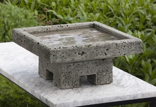 Kosei Cast Stone Outdoor Garden Birdbath