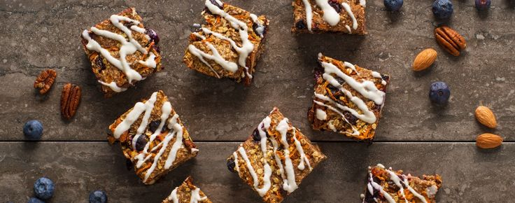 Carrot Cake Oatmeal Bars | Woolwich Dairy