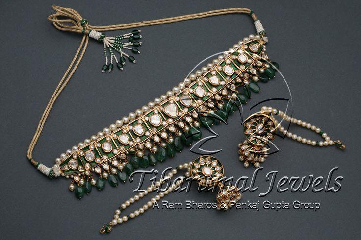 Nizami/Hyderabadi Flat Diamond Necklace Set | Tibarumal Jewels | Jewellers of Gems, Pearls, Diamonds, and Precious Stones
