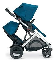 BRITAX B-READY stroller with companion seat. It's a modular stroller with over 14 configurations including a second seat for multiples, infants or older siblings. Better yet, you can remove the seats and it can hold two infant car seats. Believe it or not, most double strollers like the Combi Twin, only allow for one infant car seat at a time, thus the misnomer for twins.