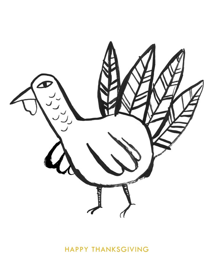 Thanksgiving Turkey Coloring Page Download