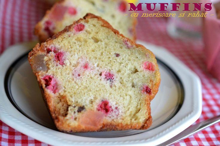 Muffins cu merisoare si rahat - Retete culinare by Teo's Kitchen