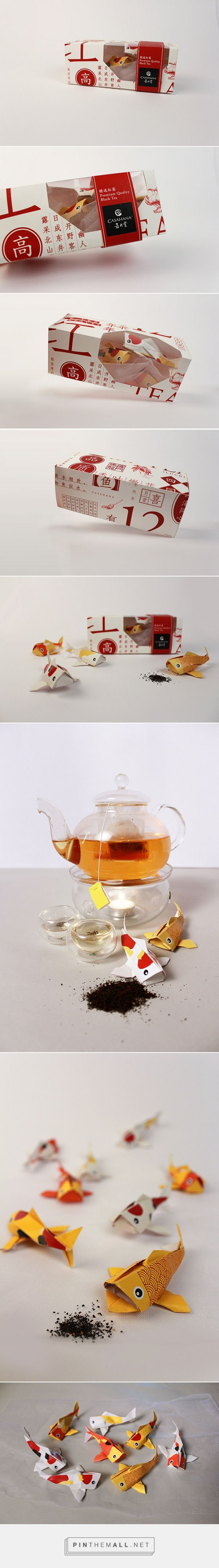 Casahana Black Tea curated by Packaging Diva PD. Chinese New Year origami tea packaging inspiration.