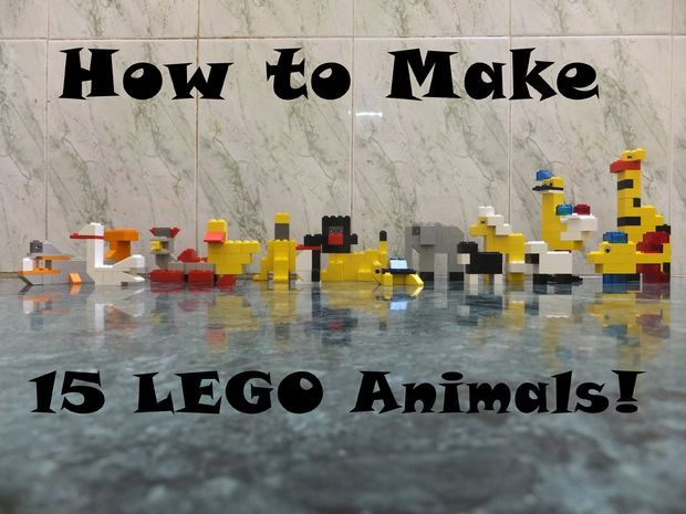 how to make 15 lego animals...pictorial directions