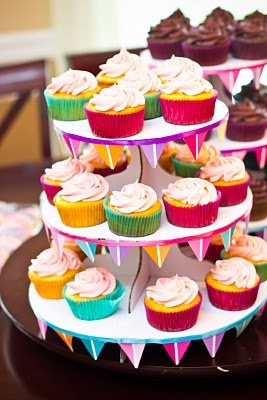 Decorated Cupcake Stand