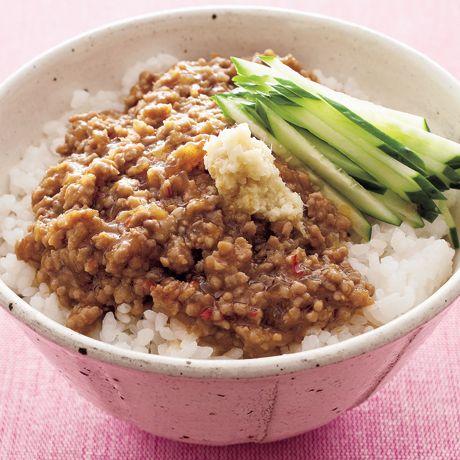 ジャージャー丼 | 小林まさみさんのどんぶりの料理レシピ | プロの簡単料理レシピはレタスクラブニュース