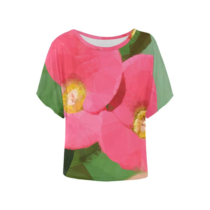Tiny Pink Floral Low Poly Succulent Women