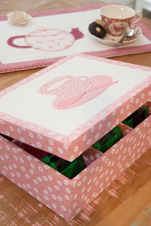 Caixa de chá com carton mousse / DIY, Craft, Upcycle