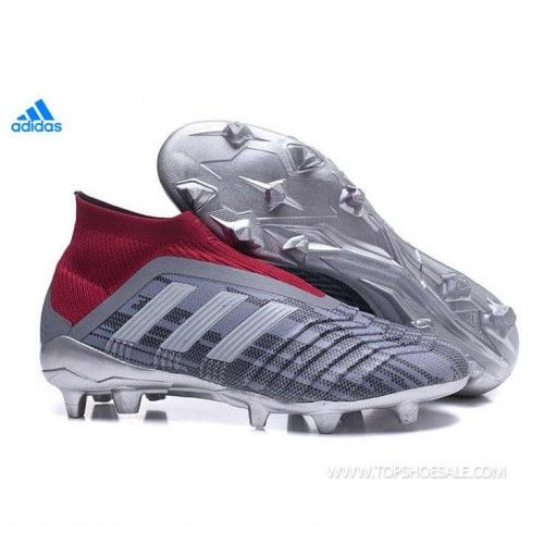 2018 FIFA World Cup adidas PP Predator 18+ FG AC7457 Iron Metallic Iron  Metallic Iron Metallic Football shoes 85f9129f3c3