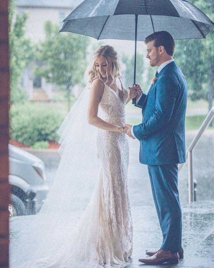 Beautiful wedding gown with soft lace detail. #laceweddingdress #modernbride
