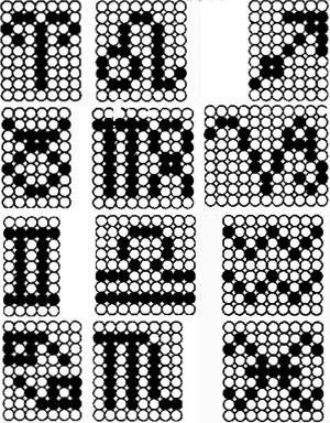 схема плетения брелка со знаком зодиака из бисера