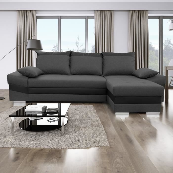 Maribor Canape D Angle Reversible Convertible 4 Places Pas Cher Canape Cdiscount Canape Angle Canape Cdiscount Canape