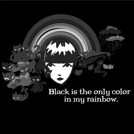 black is the only colour in my rainbow. Emily the Strange | dark ride |
