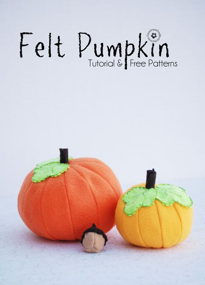 Felt pumpkins and acorns shout fall. Combine equal amounts of inspiration and felt to craft these vibrant pumpkins with tutorial by Nap Time Creations.