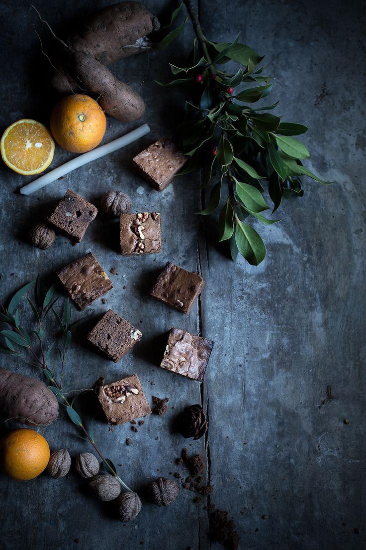 Brownies alle patate dolci, cioccolato e noci