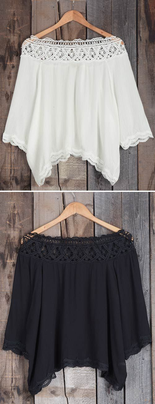 For breezy summer days! The off the shoulder top reveals your collarbone. It's perfect for your summer fun with friends!