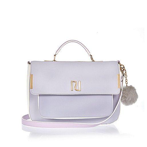 Light purple large satchel bag - satchels - bags / purses - women