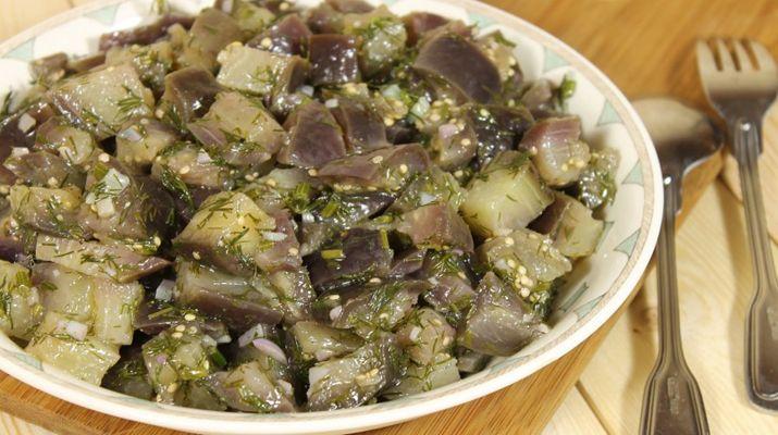 Вкусная и быстрая закуска: баклажаны, как грибы