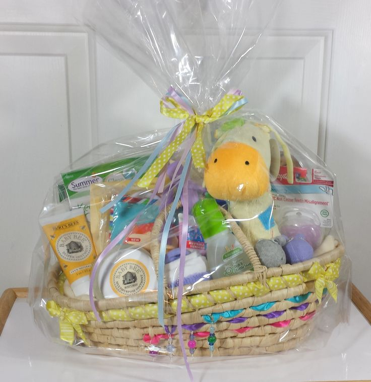9 best new baby gift baskets images on pinterest twin and new babies new baby gift basket with hand decorated moses basket in neutral size large negle Gallery