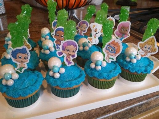 Bubble Guppies cupcakes                                                                                                                                                      More