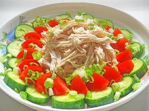 Рецепт №1: Японский вариант овощного салата с курицей