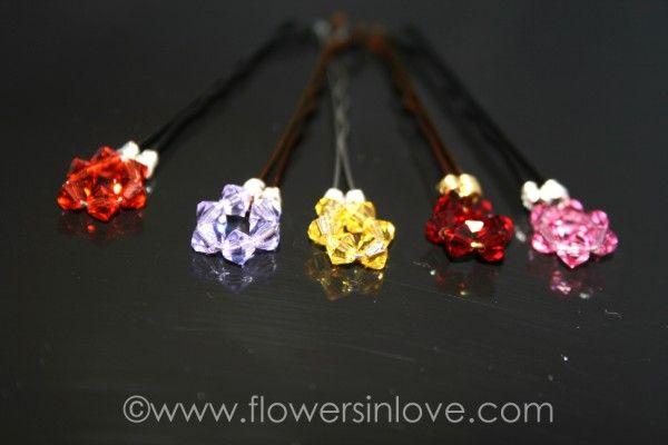 Swarovski hair pins - choose any colour!