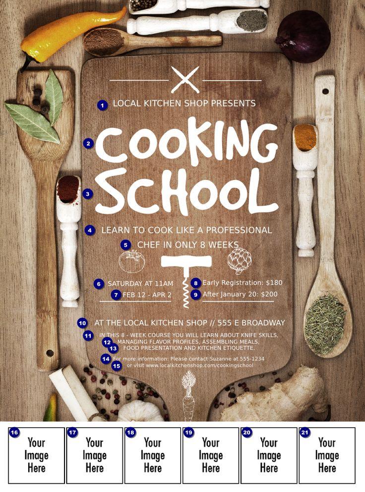 cooking Classes Design Cooking School Logo Flyer...