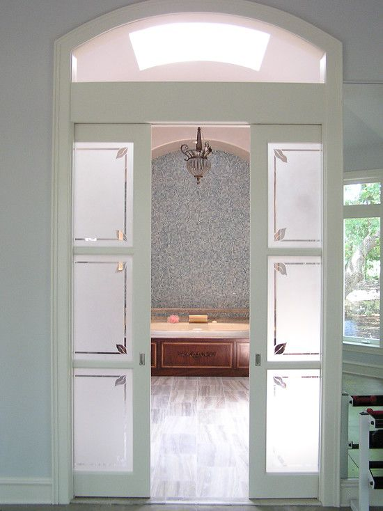 Interior French Doors Opaque Glass