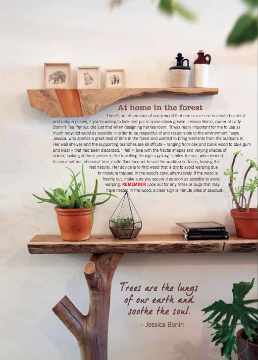 By Simone Borcherding stylist   writer   spacemaker. Rustic wooden shelf and console table.