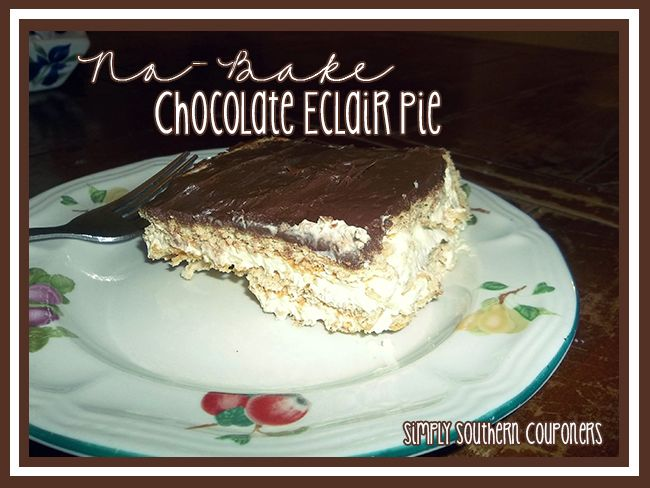 No-Bake Chocolate Eclair Pie - Simply Southern Couponers