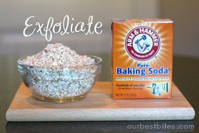 The Best  Cleaning Effective & Moisturizer..Oatmeal Exfoliator:  2t oats  1t baking soda  warm water    Place oats and baking soda in a small bowl and add small amounts of water just until it comes together in a spreadable paste. About 1 1/2 t should do it. Use your fingers to rub it on to your face in circular motions. Massage for 1-2 minutes and then rinse off with warm water and pat face dry.