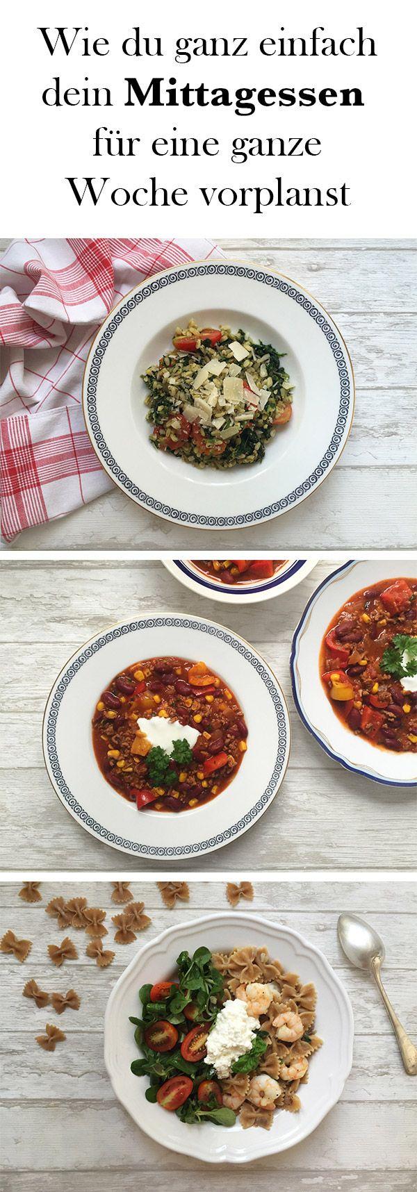 Mit diesem Plan hast du mit nur drei einfachen Gerichten eine ganze Woche voller Mittagessen – egal, ob du zu Hause bist oder auf der Arbeit!