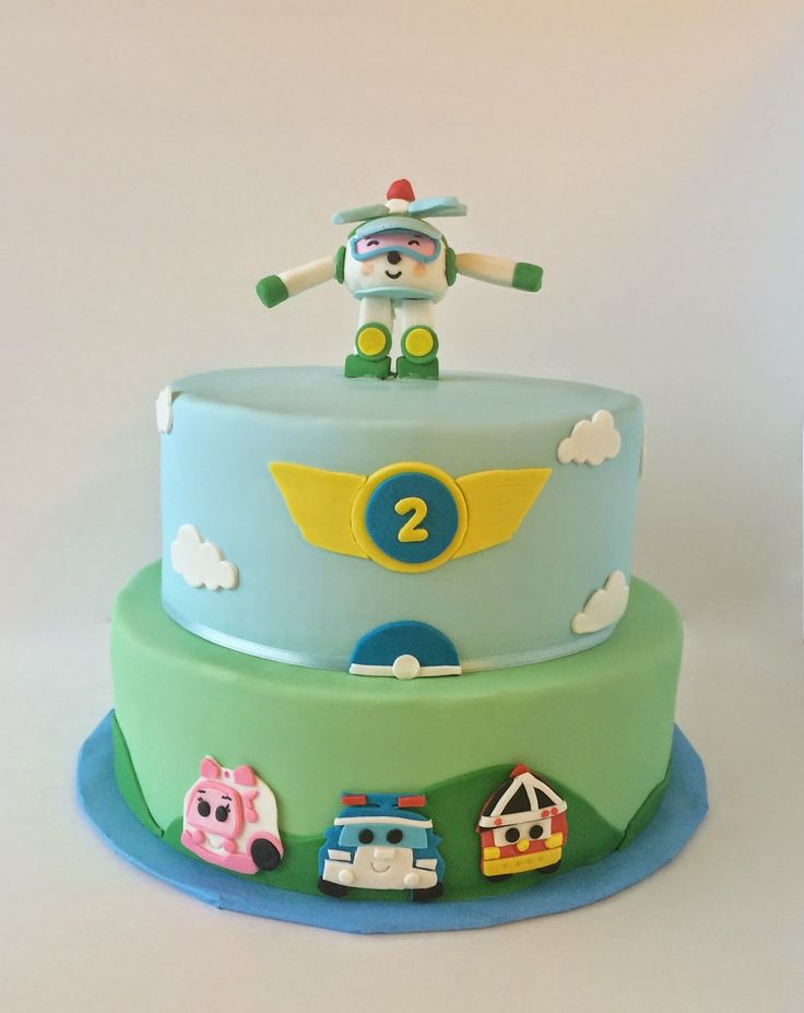 Robocar Poli Birthday Cake
