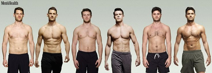 Ben Hobson, 34, Michael Jennings, 22, and Kris Pace, 28, who all work at Men's Health, set...