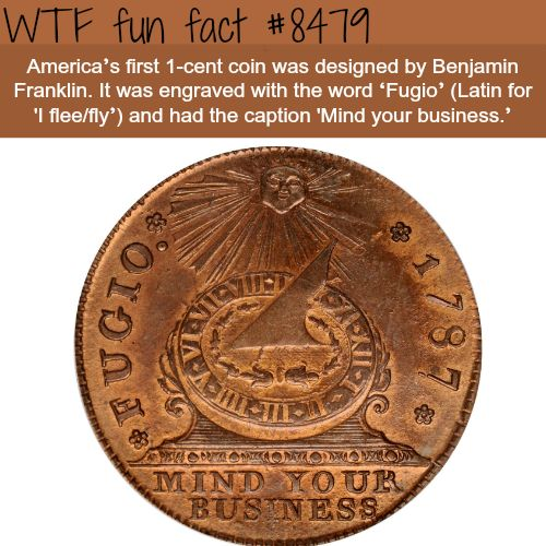 Fugio cent - WTF fun facts