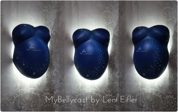 Babybauchabdruck Köln Sternenhimmel Lampe - von MyBellycast.de