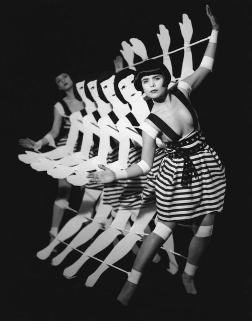 "whataboutbobbed: ""Tingel Tangel is an experimental dance film by Kathryn Ferguson, with a wooden dance machine built to parody the Busby Berkeley style chorus lines of the 1920's Dancers are performers Paloma Faith and Beatrice Brown """