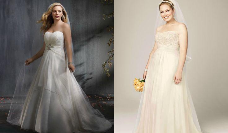 ¿Novia de talla grande? Aprende a escoger tu vestido de boda