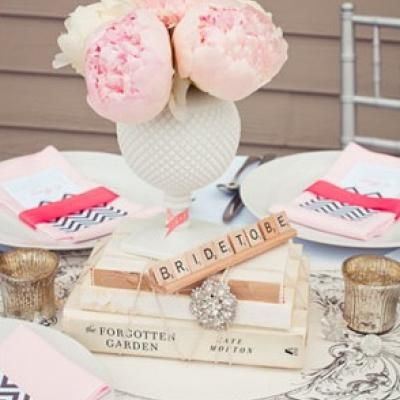 Romantic Bridal Shower {Gray, Coral & Pink}