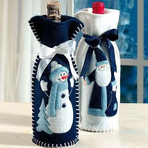 Best 25 botellas decoradas para navidad ideas on - Botellas de vino decoradas ...